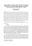 Ảnh hưởng của dịch chiết tỏi đến nấm thán thư hại ớt (Colletotrichum gloeosporioides) và chuối (Colletotrichum musae) ở điều kiện in vitro