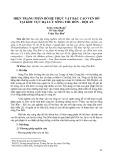 Hiện trạng phân bố hệ thực vật bậc cao ven bờ tại khu vực hạ lưu sông Thu Bồn - Hội An