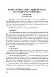 Nghiên cứu tổng hợp vật liệu ZIF-8 bằng phương pháp dung môi nhiệt
