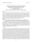 Tri thức địa phương của người Cơ Tu trong khai thác và sử dụng thực vật rừng