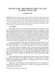 Chuyển loại - một phương thức cấu tạo từ trong tiếng Việt
