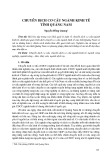 Chuyển dịch cơ cấu ngành kinh tế tỉnh Quảng Nam