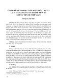 Tính khả biến trong tiếp nhận tiểu thuyết lịch sử Nguyễn Xuân Khánh nhìn từ những tiền đề tiếp nhận
