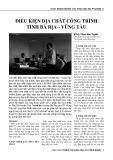 Điều kiện địa chất công trình tỉnh Bà Rịa - Vũng Tàu