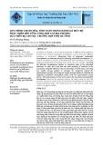 Quy trình chuẩn hóa, tính toán trong đánh giá mức độ phát triển bền vững tổng hợp cấp địa phương dựa trên bộ chỉ thị - trường hợp tỉnh Hà Tĩnh