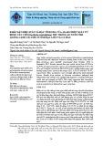 Khảo sát hiệu suất và đặc tính gel của agar chiết xuất từ rong câu chỉ (gracilaria tenuistipitata) thu trong ao nuôi tôm quảng canh cải tiến ở tỉnh Bạc Liêu và Cà Mau