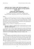 Đánh giá chất lượng nước thải xi mạ đồng (Cu2 ) của chất keo tụ sinh học trích ly từ hạt Muồng Hoàng Yến