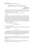 Phép biến đổi Laplace và một số ứng dụng