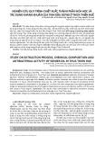 Nghiên cứu quy trình chiết xuất, thành phần hóa học và tác dụng kháng khuẩn của tinh dầu gừng ở Thừa Thiên Huế