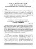 Nghiên cứu tác dụng chống oxy hóa và độc tính cấp của cây bù dẻ tía (uvaria grandiflora roxb. ex hornem annonaceae)