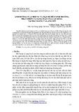 Ảnh hưởng của thời vụ và mật độ đến sinh trưởng, phát triển và năng suất của cây bông tại Bắc Giang và Lạng Sơn