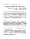 Ảnh hưởng của một số chế phẩm phun qua lá đến sinh trưởng và năng suất của giống lạc L14