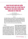 Phân tích đối chiếu đặc điểm cấu thành cơ bản của vị ngữ tính từ trong câu cầu khiến khẳng định tiếng Hán và tiếng Việt