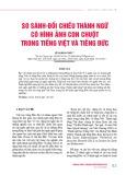 So sánh đối chiếu thành ngữ có hình ảnh con chuột trong tiếng Việt và tiếng Đức