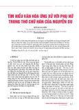 Tìm hiểu văn hóa ứng xử với phụ nữ trong thơ chữ Hán của Nguyễn Du