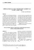 Chính sách quản lý di cư đô thị Việt Nam hiện nay: Vấn đề và kiến nghị