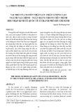 Vai trò của nguồn nhân lực chất lượng cao ngành Tài chính – Ngân hàng trong tiến trình hội nhập kinh tê quốc tế ở thành phố Hồ Chí Minh