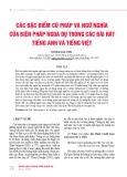 Các đặc điểm cú pháp và ngữ nghĩa của biện pháp ngoa dụ trong các bài hát tiếng Anh và tiếng Việt