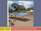 Lecture Human ecology - Chapter 12: Renewable energy and nuclear power