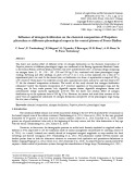 Influence of nitrogen fertilization on the chemical composition of Paspalum plicatulum at differents phenological stages in the central plateau of Fouta-Djallon