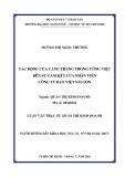 Luận văn Thạc sĩ Quản trị kinh doanh: Tác động của căng thẳng trong công việc đến sự cam kết của nhân viên công ty Bảo Việt Sài Gòn