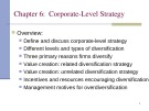 Lecture Organizational strategies for the 21st century - Chapter 6