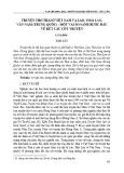 Truyện thơ Thái ở Việt Nam và Lào, Thái Lan, Vân Nam (Trung Quốc) - một vài so sánh bước đầu về kết cấu cốt truyện