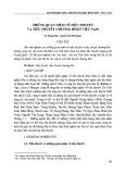 Những quan niệm về tiểu thuyết và tiểu thuyết chương hồi ở Việt Nam