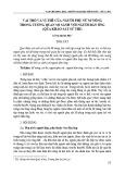 Vai trò và vị thế của người phụ nữ M'nông trong tương quan so sánh với người đàn ông (qua khảo sát sử thi)