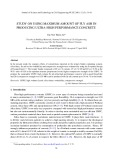 Study on using maximum amount of fly ash in producing ultra high performance concrete
