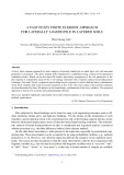 A fast fuzzy finite element approach for laterally loaded pile in layered soils