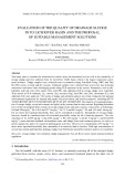 Evaluation of the quality of drainage sludge in To Lich river basin and the proposal of suitable management solutions