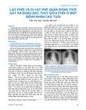 Lao phổi và dị vật phế quản đồng thời gây ra đông đặc thùy giữa phổi ở một bệnh nhân cao tuổi