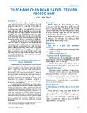Thực hành chẩn đoán và điều trị viêm phổi do nấm