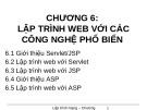Bài giảng Lập trình ứng dụng Web - Chương 6: Lập trình Web với các công nghệ phổ biến
