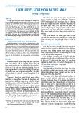 Lịch sử fluor hoá nước máy