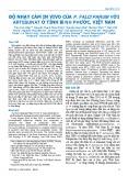 Độ nhạy cảm in vivo của P. falciparum với artesunat ở tỉnh Bình Phước, Việt Nam