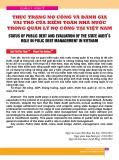 Thực trạng nợ công và đánh gia vai trò của kiểm toán nhà nước trong quản lý nợ công tại Việt Nam