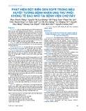 Phát hiện đột biến gen EGFR trong mẫu huyết tương bệnh nhân ung thư phổi không tế bào nhỏ tại Bệnh viện chợ Rẫy