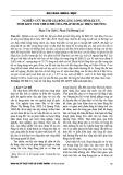 Nghiên cứu đánh giá bồi lắng lòng hồ Đăk Uy, tỉnh Kon Tum theo phương pháp đo đạc hiện trường
