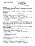 Đề thi thử THPT QG môn GDCD năm 2019 lần 2 - THPT Lý Thái Tổ - Mã đề 507