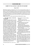 Nghiên cứu sự làm việc của bê tông cốt sợi thép - Đặng Văn Phú