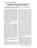 Thực nghiệm và đánh giá quá trình cacbonat hoá cưỡng bức vật liệu bê-tông cốt thực vật