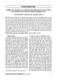 Nghiên cứu đánh giá và dự báo diễn biến chất lượng nước sông Đuống bằng phương pháp mô hình toán - Trịnh Xuân Mạnh, Nguyễn Hà Anh, Nguyễn Tiến Quang