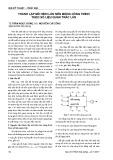 Thành lập mô hình lún nền móng công trình theo số liệu quan trắc lún
