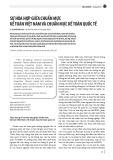 Sự hòa hợp giữa chuẩn mực kế toán Việt Nam và chuẩn mực kế toán quốc tế