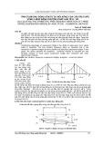Tính toán dao động uốn tự do đối xứng của cầu treo dây võng 3 nhịp bằng phương pháp giải tích - số