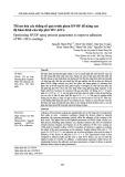 Tối ưu hóa các thông số quá trình phun HVOF để nâng cao độ bền bám dính của lớp phủ WC-12Co