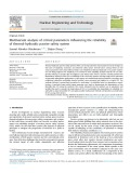 Multivariate analysis of critical parameters influencing the reliability of thermal-hydraulic passive safety system