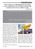 Discussion on the rebound of some Asian Emerging Economies after the global financial crisis in 2008